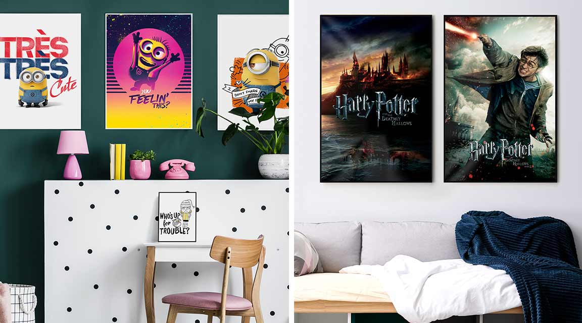 Premium posters of the Minions and Harry Potter