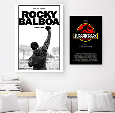 Movie themed posters, canvas and wall art