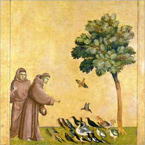 Premium poster St. Francis of Assisi Preaching to the Birds
