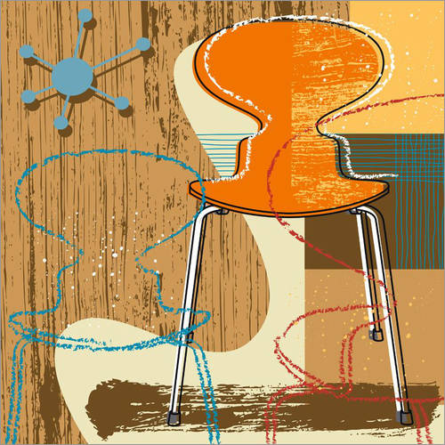 Wall sticker ant chair