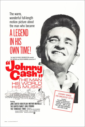 Premium poster Johnny Cash! The Man, His World, His Music