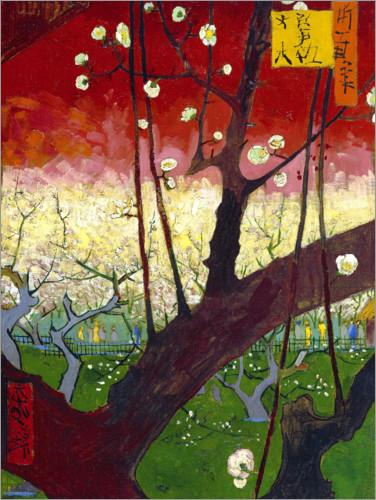 Premium poster Plum tree in bloom (after Hiroshige)