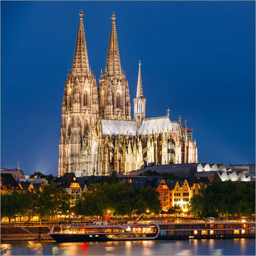 Wall sticker Night view of Cologne Cathedral