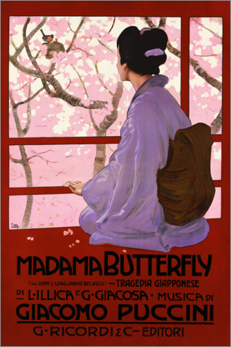 Premium poster Puccini, Madama Butterfly