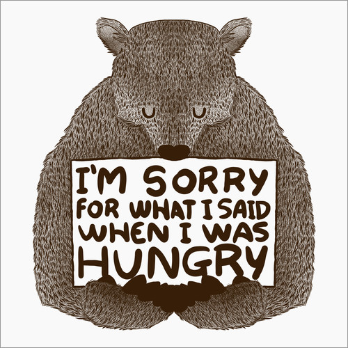 Wall sticker I'm Sorry For What I Said When I Was Hungry