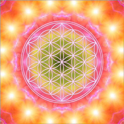 Wall sticker Flower of life - heart energy