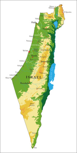 Map Of Israel Posters And Prints Posterlounge Com