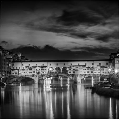 Wall sticker FLORENCE Ponte Vecchio at Sunset