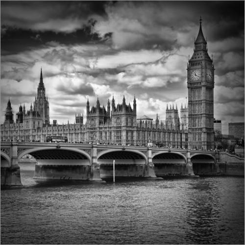 Wall sticker LONDON Houses of Parliament & Westminster Bridge