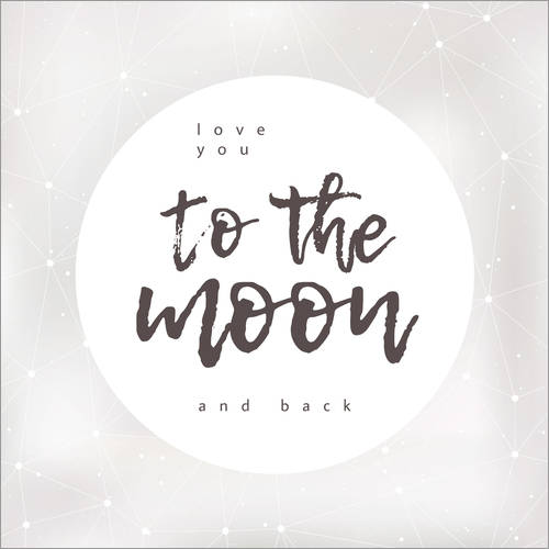 Wall sticker Love you (to the moon and back)