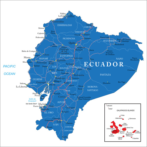 Wall sticker map Ecuador