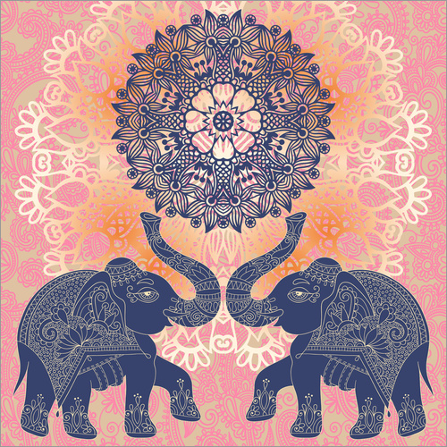 Wall sticker Elephant love