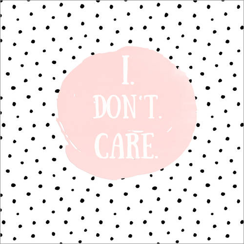 Wall sticker I dont care on polkadots
