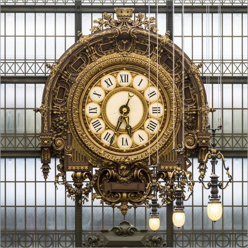 Wall sticker Big clock at the Musee d'Orsay in Paris, France