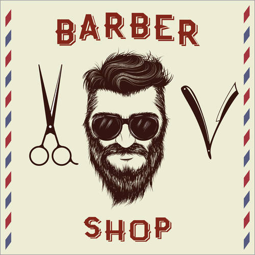 Wall sticker Barber Shop