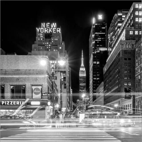 Wall sticker Ninth Ave, New Yorker * Empire State Building (monochrome)
