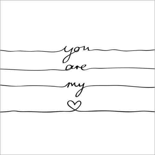 Wall sticker You are my heart