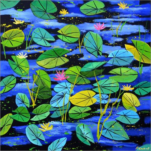 Wall sticker Water lilies in the pond