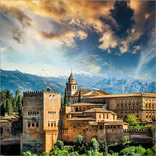 Wall sticker View of the famous Alhambra