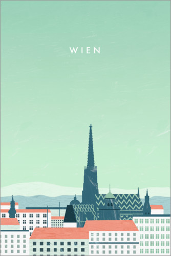 Premium poster Vienna illustration