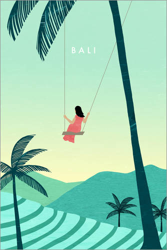 Premium poster Illustration of Bali