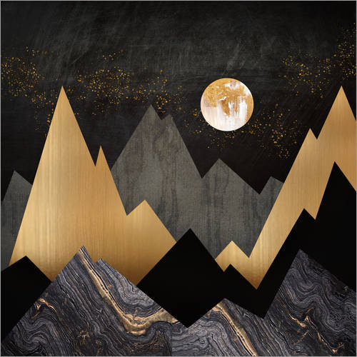 Wall sticker Metallic Night Landscape