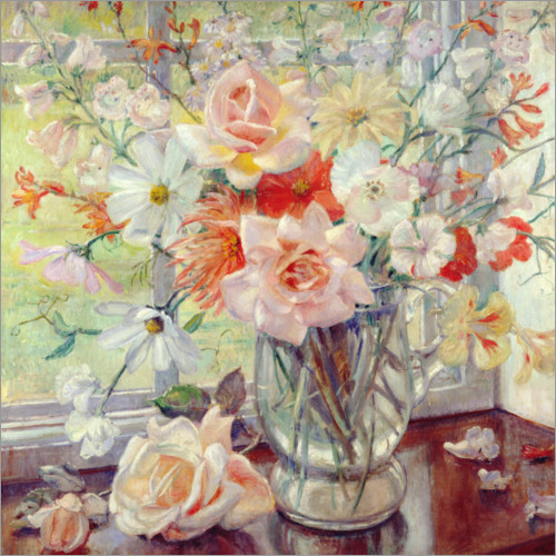 Premium poster A Still Life of Summer Flowers in a Glass Jug