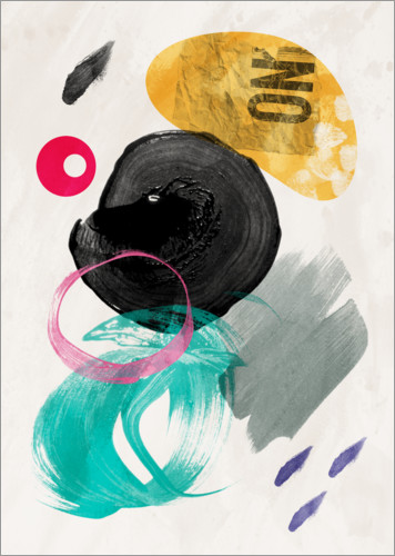 Premium poster Abstract collage I