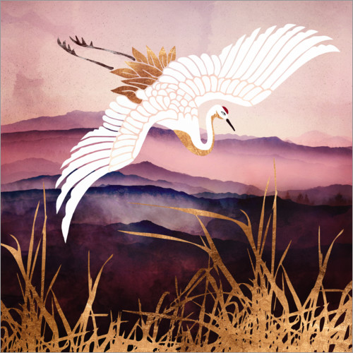 Wall sticker Elegant Flight III - Crane