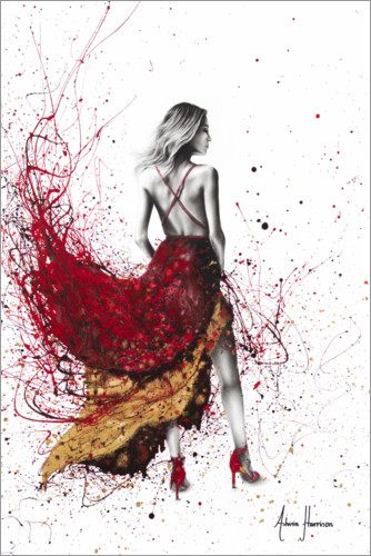 Premium poster Woman in red