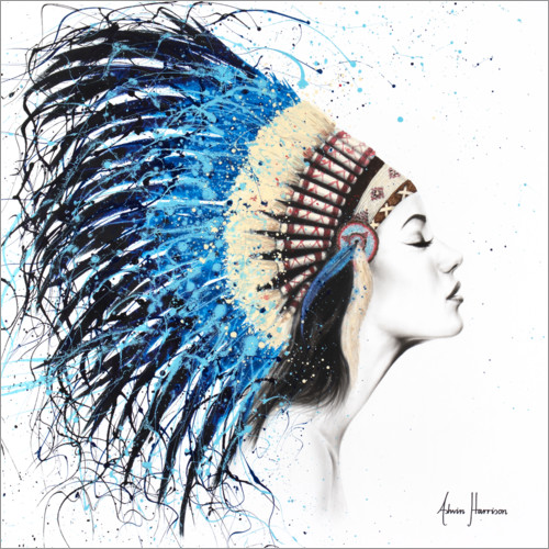 Wall sticker Woman with headdress