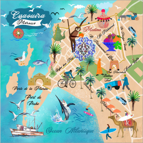Premium poster Map of Essaouira