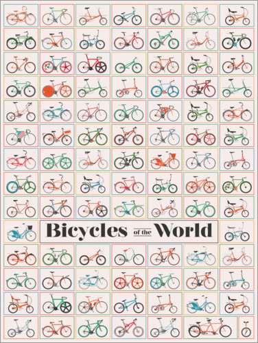 Premium poster Bicycles of the World