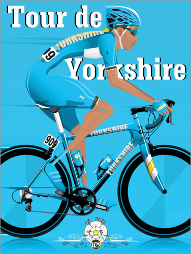 Premium poster Tour De Yorkshire, bike race