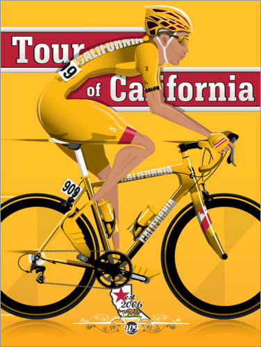 Premium poster Tour of California Bicycle Race