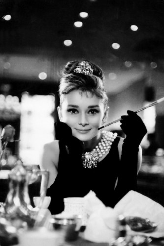 Premium poster Audrey Hepburn in Breakfast at Tiffany's
