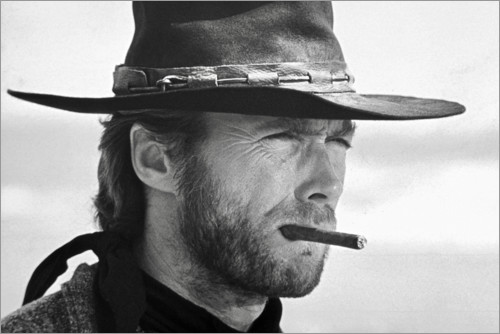 Premium poster Clint Eastwood in The Good, the Bad and the Ugly