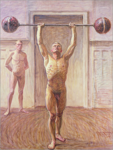Premium poster Pushing Weights with Two Arms Number 2