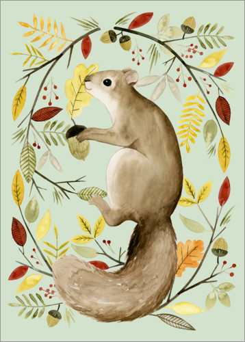 Premium poster Squirrel in the autumn