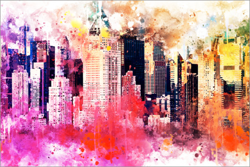 Premium poster NYC City of Colors