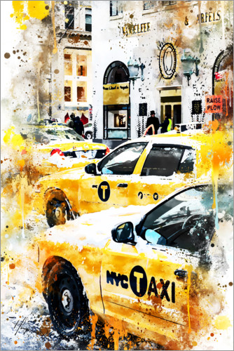 Premium poster New York Taxis