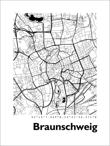 Premium poster City map of Brunswick