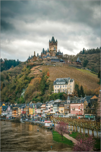 Premium poster Cochem on the Mosel