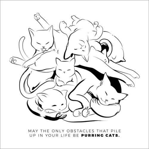 Premium poster A bunch of purring cats
