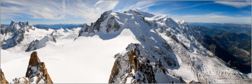 Premium poster Panorama from Aiguille du Midi, Chamonix, France