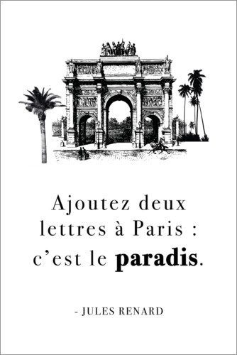 Premium poster It is paradise (french)