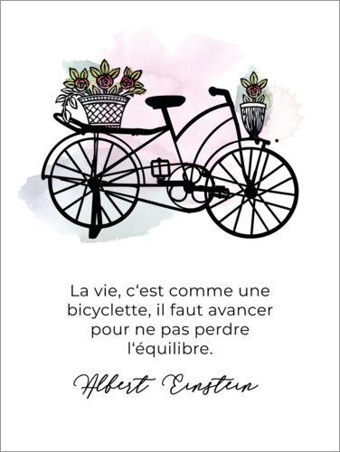 Premium poster Life is like cycling (French)