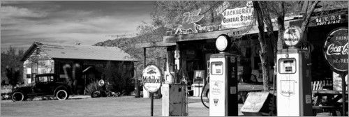 Premium poster Gas station on Route 66, Hackenberry, USA