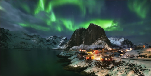 Premium poster Northern lights in Lofoten, Norway