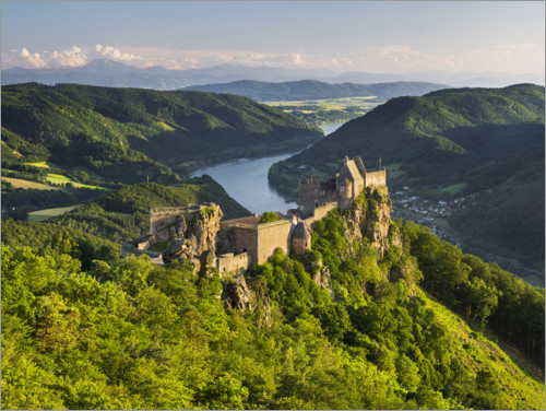Premium poster Aggstein over the Danube